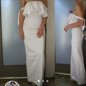 Nwot Fame & Partners Revolve white maxi dress 4